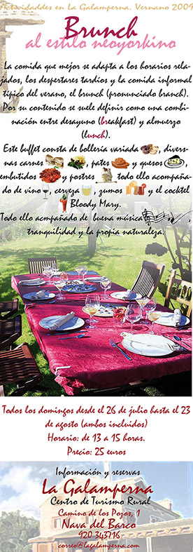 Galamperna, turismo rural, Nava del Barco, Gredos, brunch, Julián jiménez, diseño jesús garcía jiménez