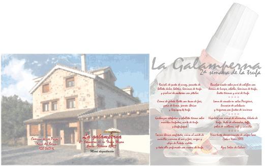 Galamperna, turismo rural, Nava del Barco, Gredos, jornadas trufa 2009, Julián jiménez, diseño jesús garcía jiménez