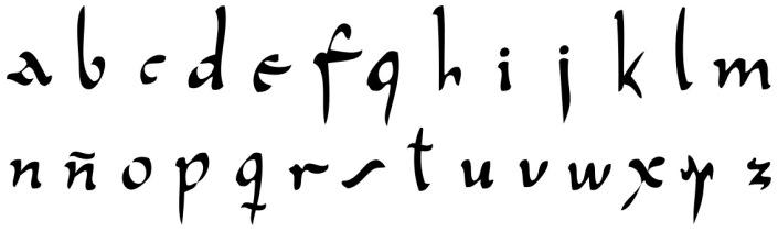 tipografía gredos minuscula