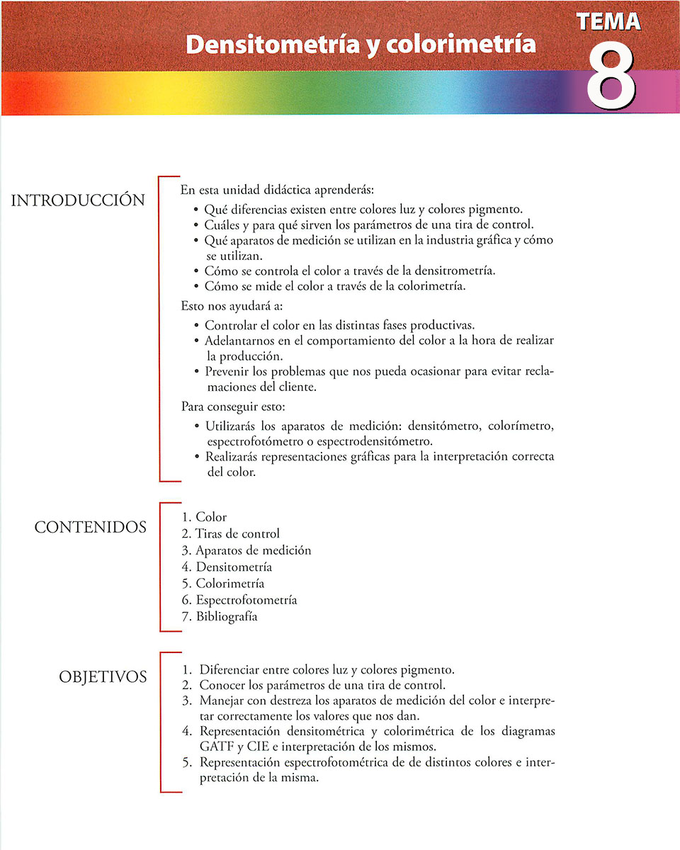 Materiales de producción en artes gráficas, capítulo 8