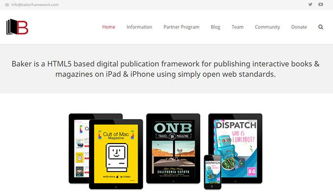 bakerbook, creación enhanced ebook para ipad y iphone