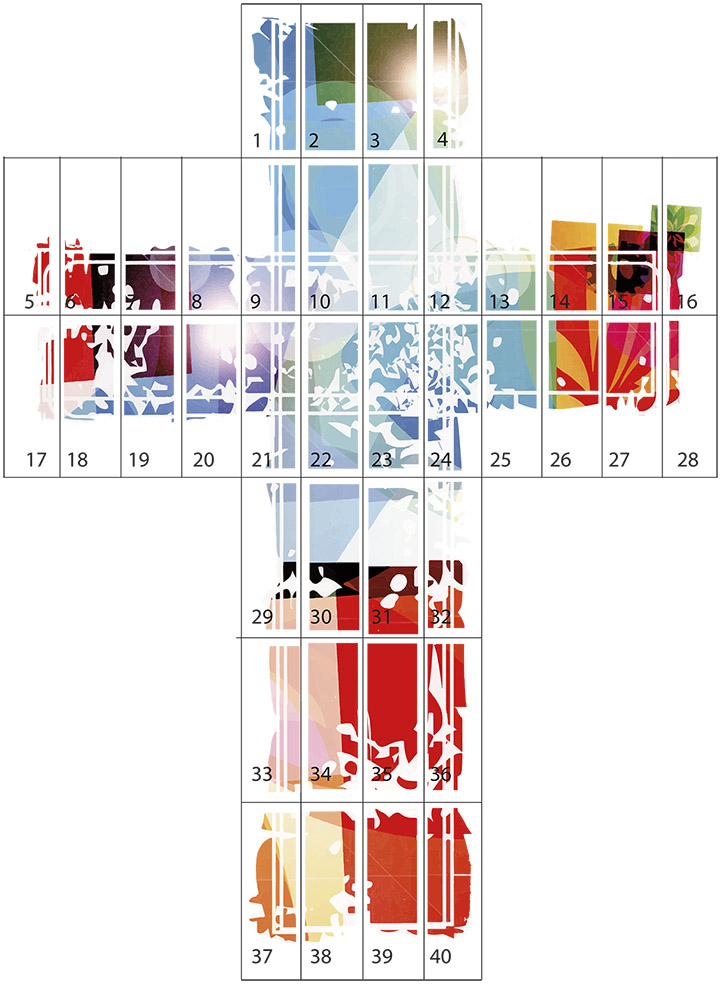 cruz, salesianos atocha, artes gráficas, 2014, gigantografía