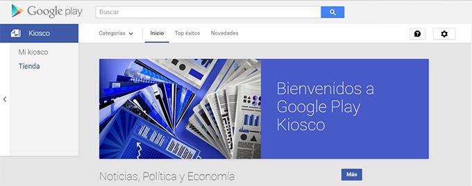 google newsstand, kiosko google