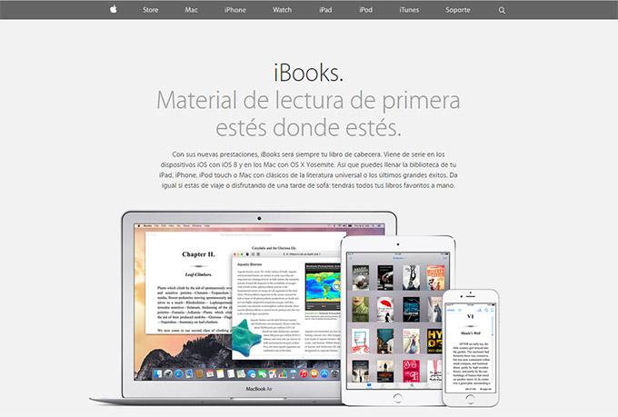 web ibook store, libro electrónico diseño fijo, editorial,