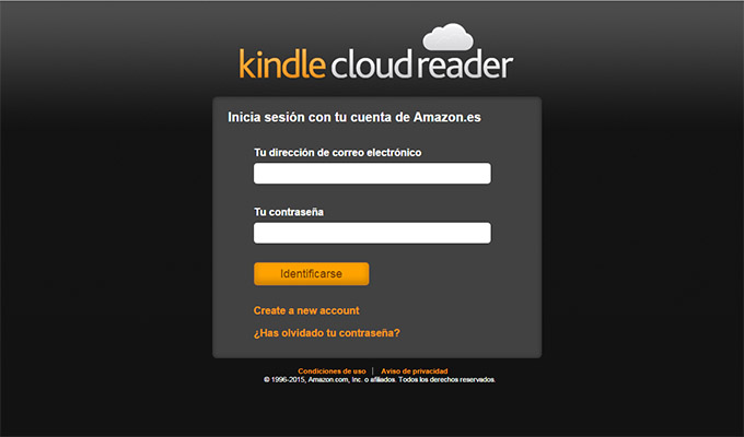kindle cloud reader, webapp, libro electrónico, editorial