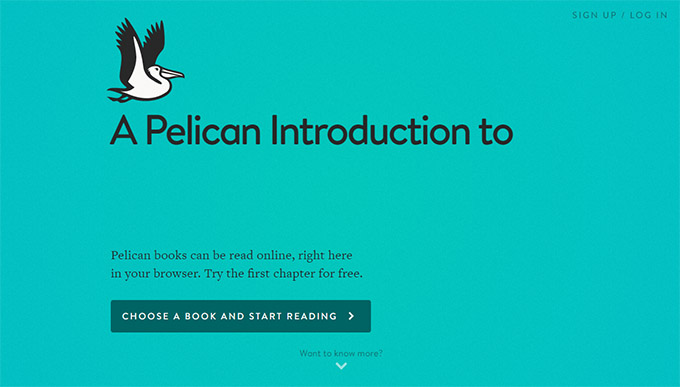 plelican cloud reader, penguin, editorial, web app,