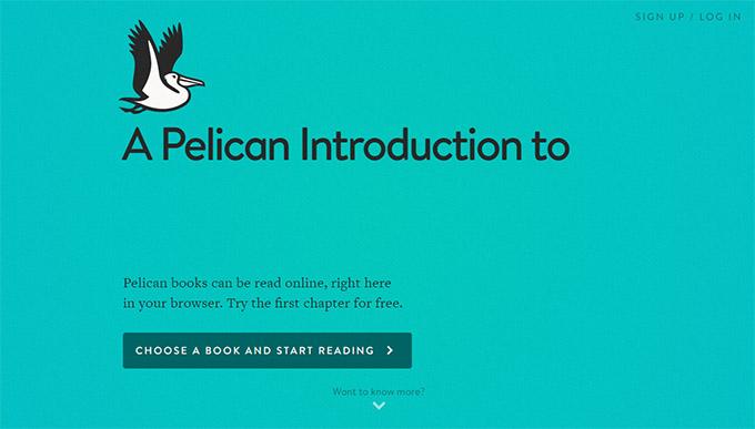 plelican cloud reader, penguin, editorial, web app,