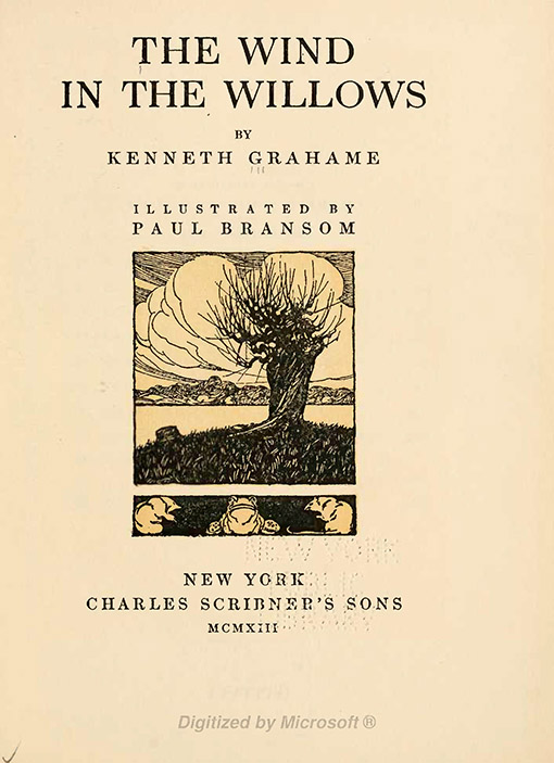 wind in the willow, portada, kenneth grahame