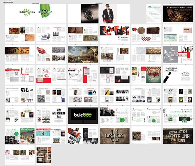 Serendipia; boceto de compaginación, editorial layout, planillo, flat plan, diseño y producción editorial, artes gráficas salesianos atocha, editorial