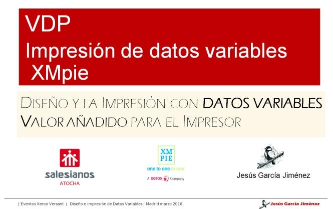 ponencia VDP, jesús garcía jiménez, dato variable, XPPie, Madrid,