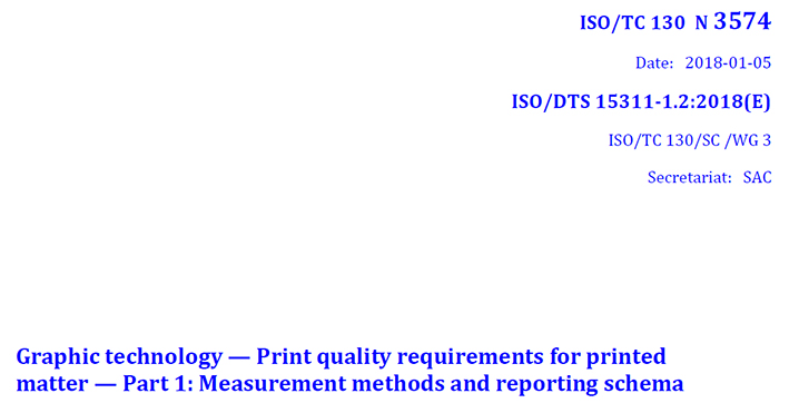 iso 1311, norma iso técnica, métodos de medición, calidad de impresión