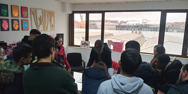 Visita Truyol digital alumnos de Preimpresión Departamento de artes gráficas salesianos atocha