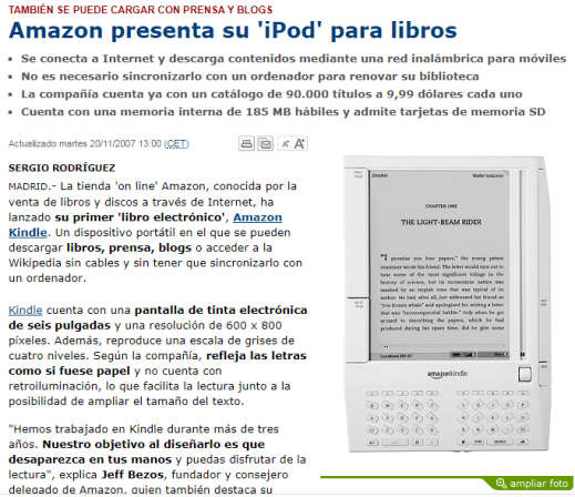 amazon kindle 2007